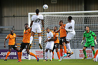 Kyle Bartley of Swansea heads the ball towards the Barnet goal during Barnet vs Swansea City, Friendly Match Football at the Hive Stadium on 12th July 2017