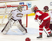 Parker Milner (BC - 35), Yasin Cissé (BU - 12), [bc5 - The Boston College Eagles defeated the visiting Boston University Terriers 5-2 on Saturday, December 1, 2012, at Kelley Rink in Conte Forum in Chestnut Hill, Massachusetts.