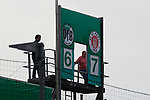 11.08.2019, Stadion Lohmühle, Luebeck, GER, DFB-Pokal, 1. Runde VFB Lübeck vs 1.FC St. Pauli<br /> <br /> DFB REGULATIONS PROHIBIT ANY USE OF PHOTOGRAPHS AS IMAGE SEQUENCES AND/OR QUASI-VIDEO.<br /> <br /> im Bild / picture shows<br /> Endstand 6:7 im Pokalspiel VfB Luebeck gegen FC St. Pauli.<br /> <br /> Foto © nordphoto / Tauchnitz