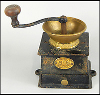 BNPS.co.uk (01202 558833)<br /> Pic: Golding,Young&amp;Mawer/BNPS<br /> <br /> A mid 19thC Kendrick &amp; Sons of London coffee grinder<br /> <br /> A collection of quirky 100-year-old kitchen gadgets designed to make life easier for the Mary Berry of Victorian days have emerged for sale.<br /> <br /> Long before Kenwood Chef and KitchenAid were the must-have items, these unusual tools - which include mincers, chopping devices and a butter churn - were the forerunners.<br /> <br /> Unlike their popular modern counterparts, many of the tools were too expensive for most people to buy and were not highly reliable and so are rarely found today.<br /> <br /> The 25 kitchen items, which date from the late 19th and early 20th century, are being sold by Golding, Young &amp; Mawer auctionhouse and are expected to fetch thousands of pounds.