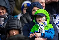 Leeds United fans take their seats<br /> <br /> Photographer Alex Dodd/CameraSport<br /> <br /> The EFL Sky Bet Championship - Leeds United v Sheffield United - Saturday 16th March 2019 - Elland Road - Leeds<br /> <br /> World Copyright © 2019 CameraSport. All rights reserved. 43 Linden Ave. Countesthorpe. Leicester. England. LE8 5PG - Tel: +44 (0) 116 277 4147 - admin@camerasport.com - www.camerasport.com