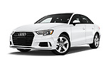 Stock pictures of low aggressive front three quarter view of 2017 Audi A3  Premium  4 Door Sedan
