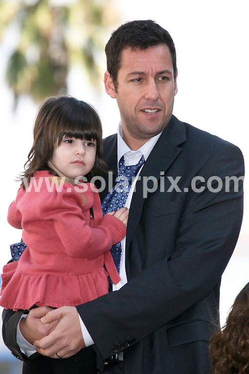 **ALL ROUND PICTURES FROM SOLARPIX.COM**                                             **SYNDICATION RIGHTS FOR UK, AUSTRALIA, DENMARK, PORTUGAL, S. AFRICA, SPAIN & DUBAI (U.A.E) & ASIA (EXCLUDING JAPAN) ONLY**                                                                                  Caption:  Adam Sandler Honoured with a Star on the Hollywood Walk of Fame, Hollywood, CA, USA. 1 February 2011                                                                         This pic: Adam Sandler and daughter Sunny Sandler                                                                   JOB REF: 12745 PHZ Evans      DATE: 01_02_2011                                                           **MUST CREDIT SOLARPIX.COM OR DOUBLE FEE WILL BE CHARGED**                                                                      **MUST AGREE FEE BEFORE ONLINE USAGE**                               **CALL US ON: +34 952 811 768 or LOW RATE FROM UK 0844 617 7637**