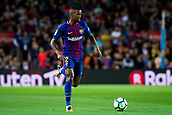 9th September 2017, Camp Nou, Barcelona, Spain; La Liga football, Barcelona versus Espanyol; Nelson Semedo form Portugal of FC Barcelona controls the ball