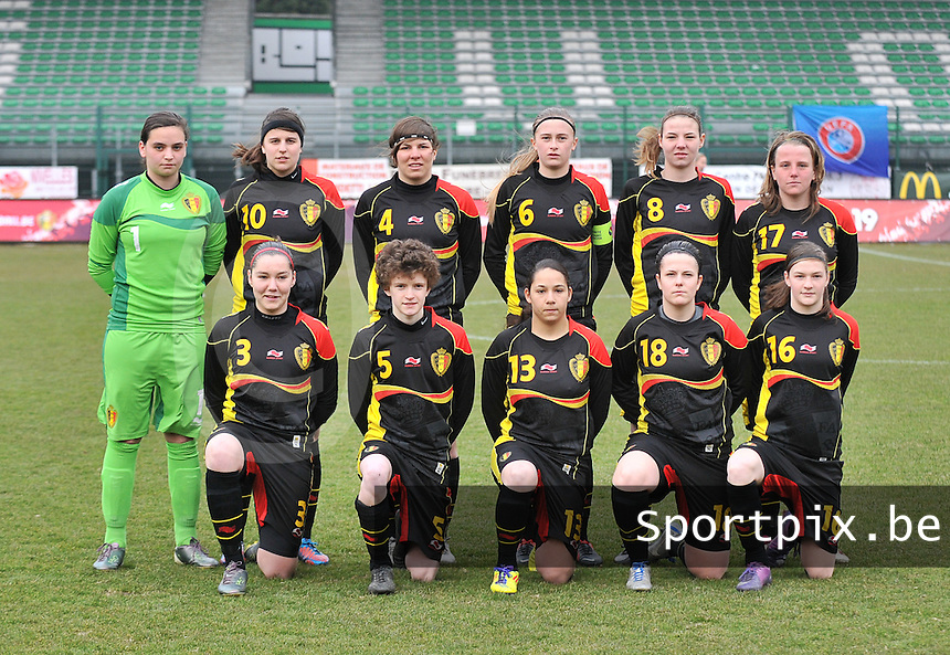 France U19 - Belgium U19 : Belgian Team.foto DAVID CATRY / Nikonpro.be