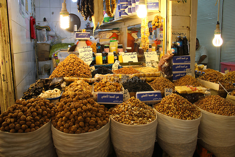 9/10/2012--Sulaimaniyah,Iraq--  A photo of a shop that sells local products including those walnuts that were harvested and been transferred from villages in the Iraqi Iranian border.
