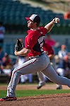 12 March 2014: Washington Nationals pitcher Aaron Barrett on the mound during a Spring Training game against the Houston Astros at Osceola County Stadium in Kissimmee, Florida. The Astros rallied in the bottom of the 9th to edge out the Nationals 10-9 in Grapefruit League play. Mandatory Credit: Ed Wolfstein Photo *** RAW (NEF) Image File Available ***