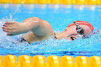 PICTURE BY ALEX BROADWAY /SWPIX.COM - 2012 London Paralympic Games - Day Five - Swimming, Aquatic Centre, Olympic Park, London, England - 03/09/12 - Elleanor Simmonds of Great Britain competes in the Women's 200m Individual Medley SM6 Heats.