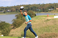 Thorbjorn Olesen (DEN) walks onto the 16th green to a tremendous applause  during Round 4 of Made in Denmark at Himmerland Golf &amp; Spa Resort, Farso, Denmark. 27/08/2017<br /> Picture: Golffile | Thos Caffrey<br /> <br /> All photo usage must carry mandatory copyright credit     (&copy; Golffile | Thos Caffrey)