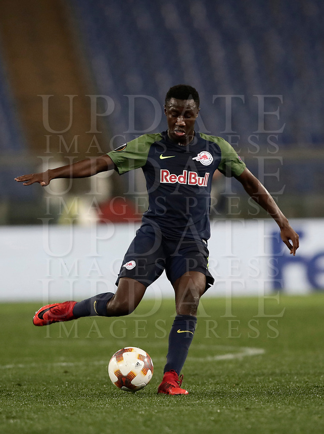 Europa League quarter-final 1st leg <br /> S.S. Lazio - FC Salzburg  Olympic Stadium Rome, April 5, 2018.<br /> Salzburg's Diadi&eacute; Samass&eacute;kou in action during the Europa League match between Lazio and Salzburg at Rome's Olympic stadium, April 5, 2018.<br /> UPDATE IMAGES PRESS/Isabella Bonotto