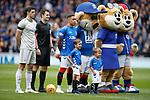 28.04.2019 Rangers v Aberdeen: Rangers and Aberdeen before kick off