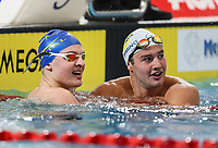 Lewis Clareburt and Wilrich Coetzee, 200m Butterfly. AON Swimming New Zealand National Open Swimming Championships, National Aquatic Centre, Auckland, New Zealand, Thursday 5 July 2018. Photo: Simon Watts/www.bwmedia.co.nz