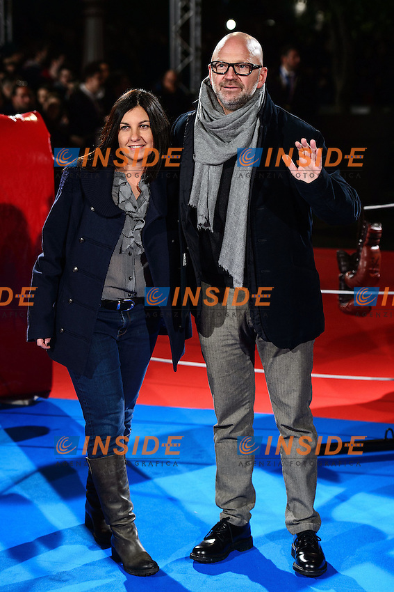 Marco Mazzocchi (D) <br /> Roma 07-01-2014 Cinema The Space Moderno <br /> Grudge Match - Il Grande Match Premiere<br /> Foto Andrea Staccioli / Insidefoto