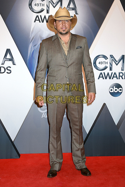 4 November 2015 - Nashville, Tennessee - Jason Aldean. 49th CMA Awards, Country Music's Biggest Night, held at Bridgestone Arena. <br /> CAP/ADM/LF<br /> &copy;LF/ADM/Capital Pictures