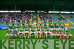 Kerry Team who played Cork in the Munster Junior Football Final on Wednesday evening at Austin Stack Park,Tralee