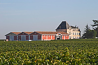 Chateau Evangile with vineyard and winery in Pomerol, Bordeaux