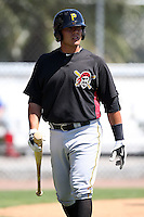April 2, 2010:  Designated Hitter Tony Sanchez of the Pittsburgh Pirates organization during Spring Training at the Carpenter Complex in Clearwater, FL.  Photo By Mike Janes/Four Seam Images
