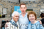 Ryan Tubridy broadcasted his radio show from Ballybunion on Wednesday in the Coast Cáfe in the town centre and pictured with him after the show were Ballybunion ladies Emily Rohan (Lt)&Carmel Guiney.