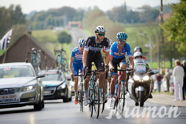 Niki Terpstra (NLD/OmegaPharma-Quickstep) &amp; Jack Bauer (NZL/Garmin-Sharp) lead the breakaway group<br /> <br /> stage 1<br /> Euro Metropole Tour 2014 (former Franco-Belge)