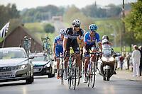 Niki Terpstra (NLD/OmegaPharma-Quickstep) &amp; Jack Bauer (NZL/Garmin-Sharp) lead the breakaway group<br /> <br /> stage 1<br /> Euro Metropole Tour 2014 (former Franco-Belge)