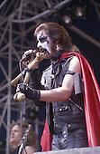 MERCYFUL FATE - King Diamond - performing live at the Heavy Sound Festival in Poperinge Belgium - 10 Jun 1984. Photo credit: Edouard Setton/Dalle/IconicPix ** UK ONLY **