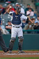 Catcher Kyle Anson #35 of the Trenton Thunder on defense versus the Portland Sea Dogs at Waterfront Park May 12, 2009 in Trenton, New Jersey. (Photo by Brian Westerholt / Four Seam Images)