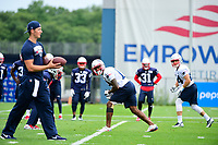 July 27, 2017: New England Patriots wide receiver Brandon Cooks (14) waits for the snap at the New England Patriots training camp held on the practice field at Gillette Stadium, in Foxborough, Massachusetts. Eric Canha/CSM