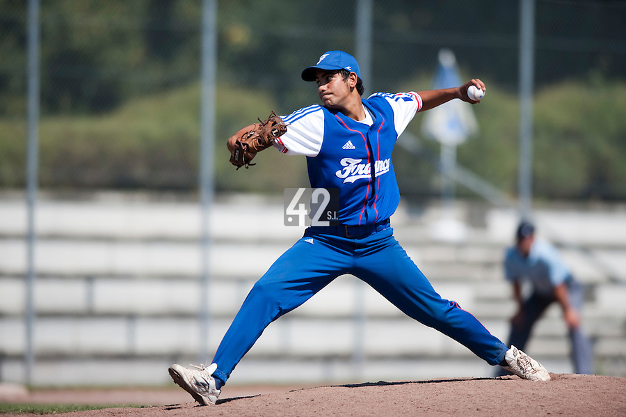 Baseball - 2009 European Championship Juniors (under 18 years old) - Bonn (Germany) - 04/08/2009 - Day 2 - Christopher Morel (France)