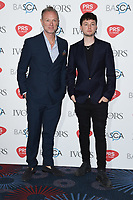 Gary Kemp and son Finlay<br /> at The Ivor Novello Awards 2017, Grosvenor House Hotel, London. <br /> <br /> <br /> &copy;Ash Knotek  D3267  18/05/2017