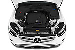 Car Stock 2020 Mercedes Benz GLC-Class GLC300 5 Door SUV Engine  high angle detail view