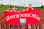 Rachel O'Mahony and Grace O'Mahony from Blenerville. at the Community Games finals at An Riocht on Saturday