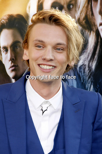 Jamie Campbell Bower at the Los Angeles premiere of &quot;The Mortal Instruments: City Of Bones&quot; held at the Cinerama Dome in Hollywood in Los Angeles, California, 12.08.2013.<br />