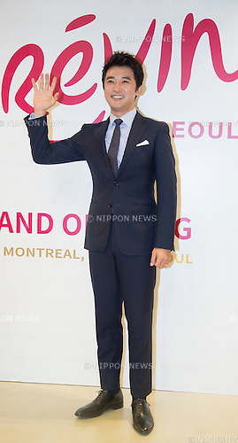 Ahn Jae-Wook, Jul 29, 2015 : South Korean actor and singer Ahn Jae-Wook poses during the Grevin Museum opening in Seoul, South Korea. French wax museum, Grevin Museum°Øs first Asian branch displays 80 life-size wax models of world-renowned people and celebrities, including 30 South Korean celebrities, according to local media. (Photo by Lee Jae-Won/AFLO) (SOUTH KOREA)