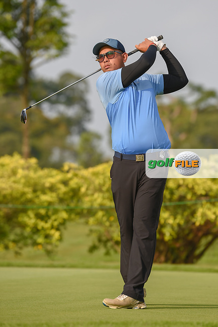 Vanseiha SENG (CAM) watches his tee shot on 3 during Rd 1 of the Asia-Pacific Amateur Championship, Sentosa Golf Club, Singapore. 10/4/2018.<br /> Picture: Golffile | Ken Murray<br /> <br /> <br /> All photo usage must carry mandatory copyright credit (© Golffile | Ken Murray)