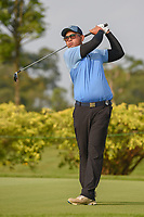 Vanseiha SENG (CAM) watches his tee shot on 3 during Rd 1 of the Asia-Pacific Amateur Championship, Sentosa Golf Club, Singapore. 10/4/2018.<br /> Picture: Golffile | Ken Murray<br /> <br /> <br /> All photo usage must carry mandatory copyright credit (&copy; Golffile | Ken Murray)