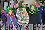SMILES: Waiting for the Killorglin St Patrick's Day parade on Sunday Zoey Wieck,Clara Redcliffe and Liz Fenton.