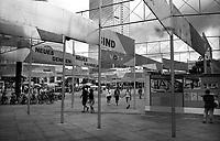berlino, quartiere mitte, alexander platz. mostra commemorativa dei 50 anni dalla caduta del muro di berlino. --- berlin, mitte district, alexander platz. commemorative exhibition for the 50 years after the fall of berlin wall
