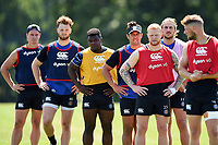 Bath Rugby players look on. Bath Rugby pre-season training on July 2, 2018 at Farleigh House in Bath, England. Photo by: Patrick Khachfe / Onside Images