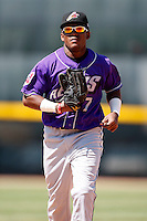 May 31, 2009:  Outfielder Jose Constanza of the Akron Aeros runs in during a game at Jerry Uht Park in Erie, NY.  The Aeros are the Eastern League Double-A affiliate of the Cleveland Indians.  Photo by:  Mike Janes/Four Seam Images