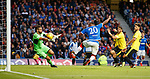 18.07.2019: Rangers v St Joseph's: Alfredo Morelos flicks in his hat trick of goals