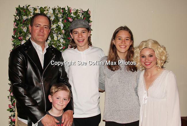 "Guiding Light's Mandy Bruno and Robert Bogue with sons Flynn & Zeb and daughter Zoe as Mandy and Rob star in Lilttle Shop of Horrors The Musical on May 27, 2018 presented by CaPAA at the Ritz Theater in Scranton, PA. Mandy is ""Audrey"", Robert is ""Orian, Berstein, Luce, Snip, Martin"" and Kelly is ""Seymour"". Mandy is  also the director, set designer, video projection production, props and costumes. Also their children Zeb (15), Zoe (13) and Flynn (6) were at this show and many others. (Photo by Sue Coflin/Max Photo)"