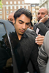 Pakistani cricketers arrive at the Pakistan High Commission in London today..Salman Butt, ...Picture by Gavin Rodgers/ Pixel 07917221968