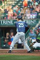 Ulrich Bojarski (25) of the West Michigan Whitecaps at bat against the Fort Wayne TinCaps at Parkview Field on August 5, 2019 in Fort Wayne, Indiana. The TinCaps defeated the Whitecaps 9-3. (Brian Westerholt/Four Seam Images)