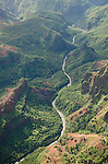 Waimea River running through Waimea Canyon, Kauai, Hawaii