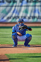 Ramon Rodriguez (7) of the Ogden Raptors before the game against the Orem Owlz at Lindquist Field on September 3, 2019 in Ogden, Utah. The Raptors defeated the Owlz 12-0. (Stephen Smith/Four Seam Images)