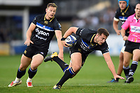 Josh Lewis of Bath Rugby in possession. European Rugby Champions Cup match, between Bath Rugby and Benetton Rugby on October 14, 2017 at the Recreation Ground in Bath, England. Photo by: Patrick Khachfe / Onside Images