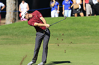Justin Rose (ENG) plays his 2nd shot on the 3rd hole during Friday's Round 2 of the 2018 Turkish Airlines Open hosted by Regnum Carya Golf &amp; Spa Resort, Antalya, Turkey. 2nd November 2018.<br /> Picture: Eoin Clarke | Golffile<br /> <br /> <br /> All photos usage must carry mandatory copyright credit (&copy; Golffile | Eoin Clarke)