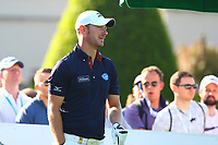 Chris Wood at the #1 tee during the BMW PGA Golf Championship at Wentworth Golf Course, Wentworth Drive, Virginia Water, England on 25 May 2017. Photo by Steve McCarthy/PRiME Media Images.