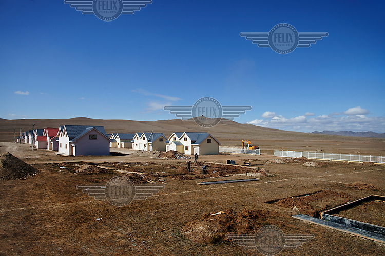 New homes being built on the outskirts of Ulan Bator. There is currently a building boom going on in the capital as the country opens up it's natural resources to foreign investment and the economy grows at double-digit rates...