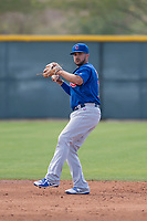 Chicago Cubs shortstop Vimael Machin (11) during a Minor League Spring Training game against the Colorado Rockies at Sloan Park on March 27, 2018 in Mesa, Arizona. (Zachary Lucy/Four Seam Images)